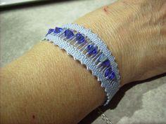 Bracelet dentelle aux fuseaux