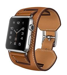V-MORO® Apple Watch Cuff Band, Apple Watch Band Leather,Genuine Leather Band Cuff Bracelet Leather Watchband With Adapter for Apple iWatch (Brown 42mm) Vilo http://www.amazon.com/dp/B015XOET40/ref=cm_sw_r_pi_dp_o1.nwb1AHDDK7