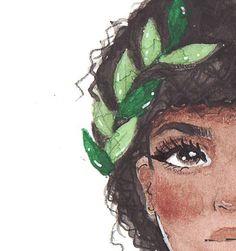 Pop Art Wallpaper, Illustration Art, Illustrations, Watercolor Art, Watercolor Portraits, Black Art, Cute Drawings, Art Inspo, Art Sketches