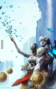 Genji and zenyatta background - 9GAG