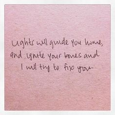 Fix You | Coldplay