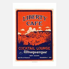 Fab.com | Liberty Café, ALBQ 1946 13x19
