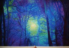 Winter sunrise, 11x17, Fine Art photograph, original, signed, blue art, trees, nature landscape, painting, altered, photograph on Etsy, $99.00 Tree Borders, Nature Landscape, Bare Tree, My Art Studio, Art Studios, One Pic, Art Projects, Sunrise, Art Gallery