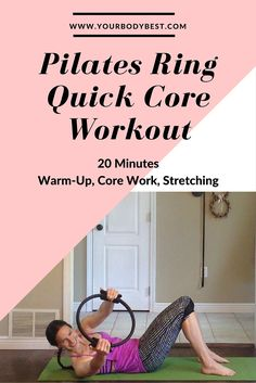 A short but powerful core workout using the pilates ring, including a warm-up and cool-down stretch. Great as a stand-alone workout if you're short on time, or to do at the end of your regularly scheduled cardio or strength session.