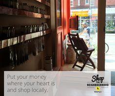 This fall, support the neighbourhood. #shopthehood