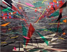 A painting by Julie Mehretu.