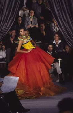 Patricia Velasquez in John Galliano's first Christian Dior collection in Spring 1997.