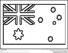 Coloring Pages Australia Flags Flag | World Thinking Day ...