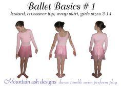Ballet Basics 1 Leotard, Wrap Top & Wrap Skirt | YouCanMakeThis.com