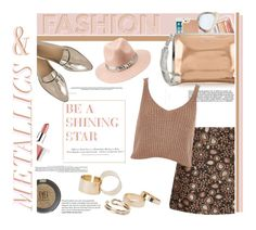 """Metallics & Fashion"" by emcf3548 ❤ liked on Polyvore featuring H&M, Alice + Olivia, Charlotte Russe, J.Crew, Illesteva, Kate Spade, McQ by Alexander McQueen, River Island, Topshop and Clinique"