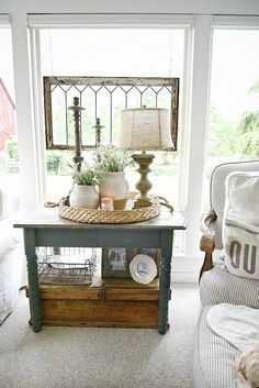a new old dresser in the sunroom | farmhouse style, sunroom and