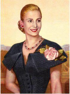 El de Evita es el único retrato de esposa de presidente en el Salón de Presidentes Argentinos de la Casa Rosada.