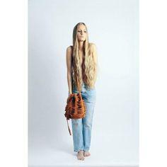 Tajos Brown Suede Leather Bag | Sabrina Tach