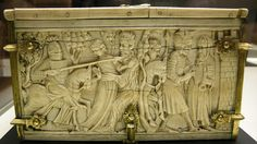 File:Mnma, casket with assoulkt to the castle of Love and other romance scenes, paris 1300-1310, ivory 01.JPG