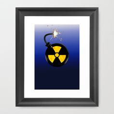 Atomic bomb Framed Art Print by seb mcnulty - $32.00