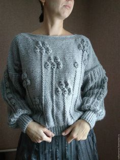 Knitted sweater   Купить Свитер ГРЕЙ - серый, вязаный свитер, теплый свитер, объемный свитер, мягкий свитер
