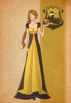 Hufflepuff - Hogwarts House Inspired Dress Magia Harry Potter, Harry Potter Dress, Arte Do Harry Potter, Cute Harry Potter, Harry Potter Artwork, Harry Potter Drawings, Harry Potter Outfits, Harry Potter Anime, Harry Potter Pictures