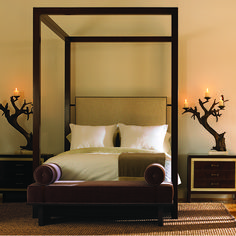 Recently, one of the clients I am working with desired a four poster bed with a modern edge. While people may assume a four poster bed is us. Four Poster Bed, Poster Beds, Sustainable Furniture, Cool Beds, Bed Styling, Luxurious Bedrooms, Beautiful Interiors, Interior Inspiration, Home Furnishings