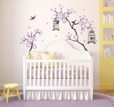 Baby Girl Room Decor Cherry Blossom tree Wal decal by DecaIisland, $45.00