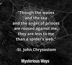 #quotes #spiderweb #Halloween #God #inspiration #October #spider #mysteriousways