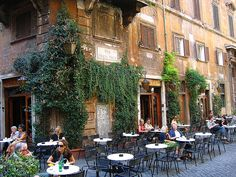 She loves sitting at cafes and people watching : italian cafe | Tumblr