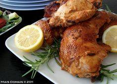 Mias Domain | Real Food: Baked Lemon Yogurt Chicken