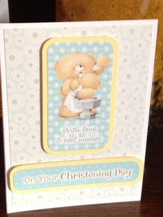 Handmade Forever Friends Christening Card by Snugglescuddles, £2.50