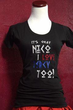 "Camp Half-Blood Woman's T-Shirt, ""I support Nico"" Percy Jackson/ Nico di Angelo inspired shirt"