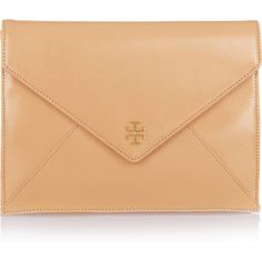 Tory Burch Robinson patent-leather envelope clutch, found on polyvore.com