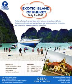 #Phuket is #Thailand's largest island which is known across the world for the famous tropical resorts and #beaches. #Spend your #vacation exploring the beaches and enjoying the sea waves splashing at your feet.