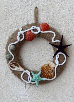 Chiccy Decolife Beyaz Halatlı Deniz Yıldızlı Deniz Kabukları Marin Kapı Süsü Fiyatı - 173305206669