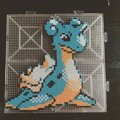 Lapras Pokemon perler beads by aghostshark