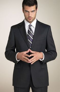 It's a Primal Thing: Alpha Style Interview - Dress to Impress Interview Attire, Interview Style, Sharp Dressed Man, Well Dressed Men, Costume Hugo Boss, Fashion Mode, Mens Fashion, Fashion Styles, Thomas Beaudoin