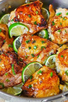 Cilantro Lime Honey Chicken Thighs