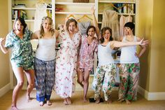 Succop Conservancy Pittsburgh Wedding Photographer Outside Spring Vintage Estate Wedding bridesmaids pajamas