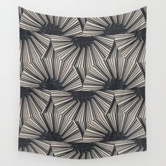 XVA0 Wall Tapestry. #graphic-design #abstract #pattern #illustration #black
