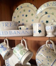 Emma Bridgewater Winter Stars, Cambridge Blue, Jasmine and Forget me Not