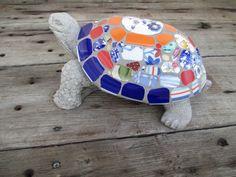 Garden mosaic turtle