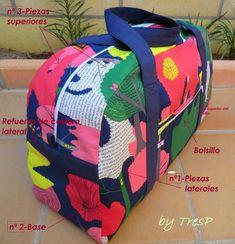 Bolsa de viaje (Patrón) Handbags On Sale, Tote Handbags, Tote Tutorial, Diy Couture, Insulated Lunch Bags, Diy Purse, Denim Bag, Kids Backpacks, Cute Bags