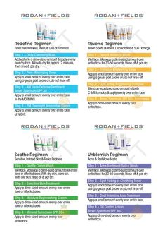 Rodan and Fields Regimen Instructions – Redefine, Reverse, Soothe, and Unblemish – Sized As Business Cards for Distributing Samples to Potential PCs count) Giving small samples to interested customers is one of the best ways to grow your business! Rodan And Fields Redefine, Rodan And Fields Regimen, Redefine Regimen, Rodan Fields Skin Care, My Rodan And Fields, Rodan And Fields Business, Rodan And Fields Consultant, Rodan And Fields Products, Unblemish Rodan And Fields