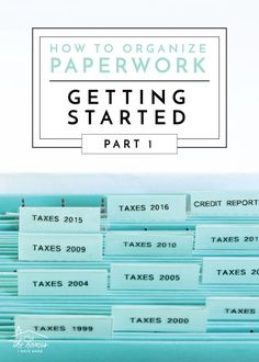 This series covers everything you need to know about organizing paperwork! In Part we're covering everything you need to know before getting started tackling your paper clutter!