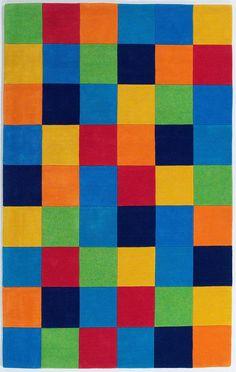 Kidding Around 0416 Boys Color Blocks Multicolor Rug