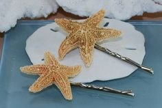 Starfish Hair Pins or ClipsBeach Hair by ornatetreasures on Etsy, $13.50