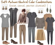 """""""Soft Autumn Neutral Color Combinations"""" by jeaninebyers ❤ liked on Polyvore"""