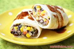 Black Bean and Corn Burritos | Aeri's Kitchen