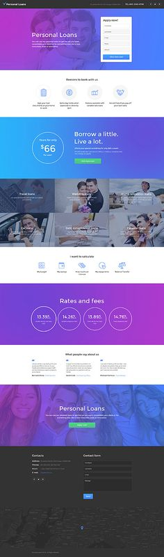 Template 58478 - Personal Loans  Responsive Landing Page Template