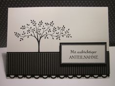 #stampin up - Trauerkarte