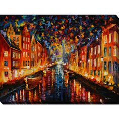 FramedArt.com Leonid Afremov ' Copenhagen' Giclee Print Wall Art