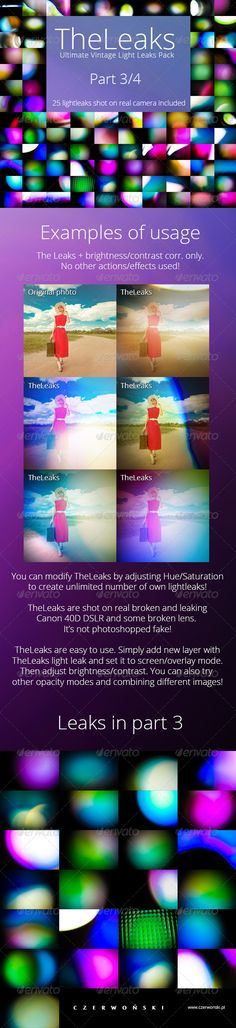 TheLeaks - Ultimate Vintage Light Leaks Pack 3/4. Only $6 @GraphicRiver
