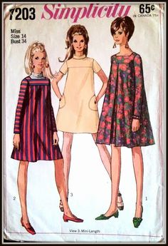 Simplicity 7203 Misses Dress in Two Lengths by ThePatternShopp, $8.00